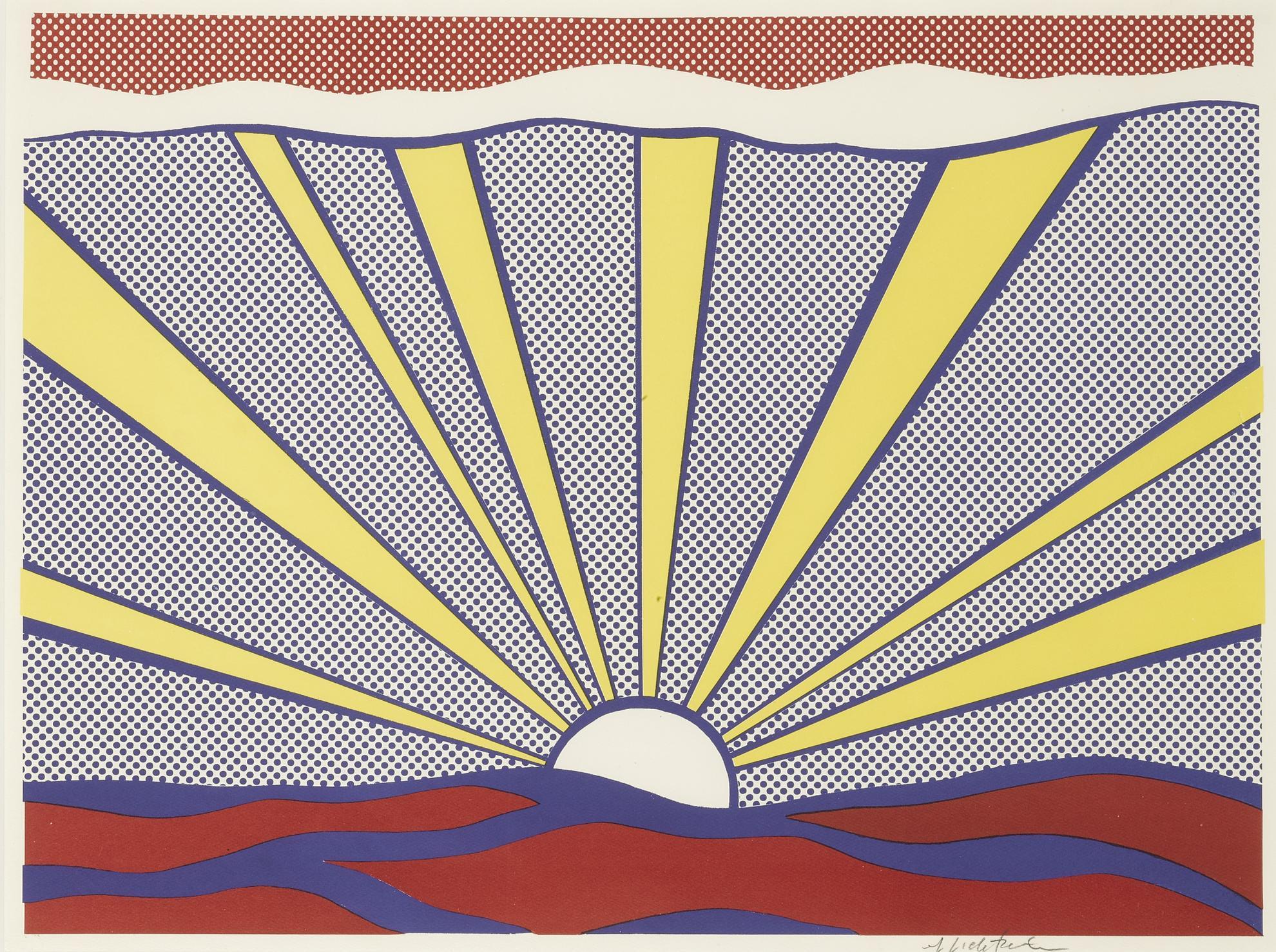 Roy Lichtenstein-Sunrise (Corlett II.7)-1965