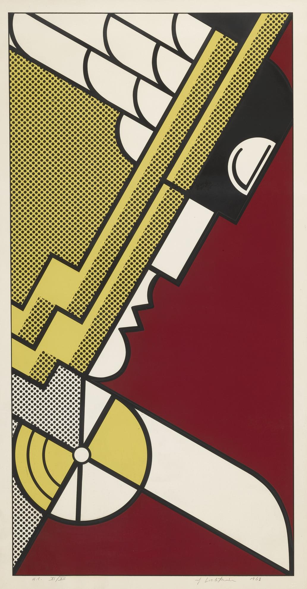 Roy Lichtenstein-Salute To Aviation (C. 63)-1968