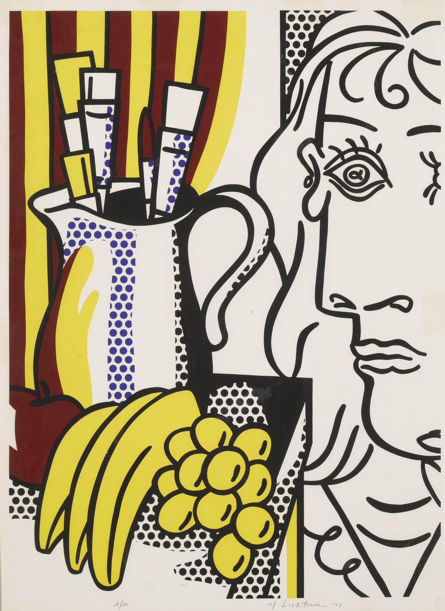 Roy Lichtenstein-Still Life With Picasso (C. 127)-1973