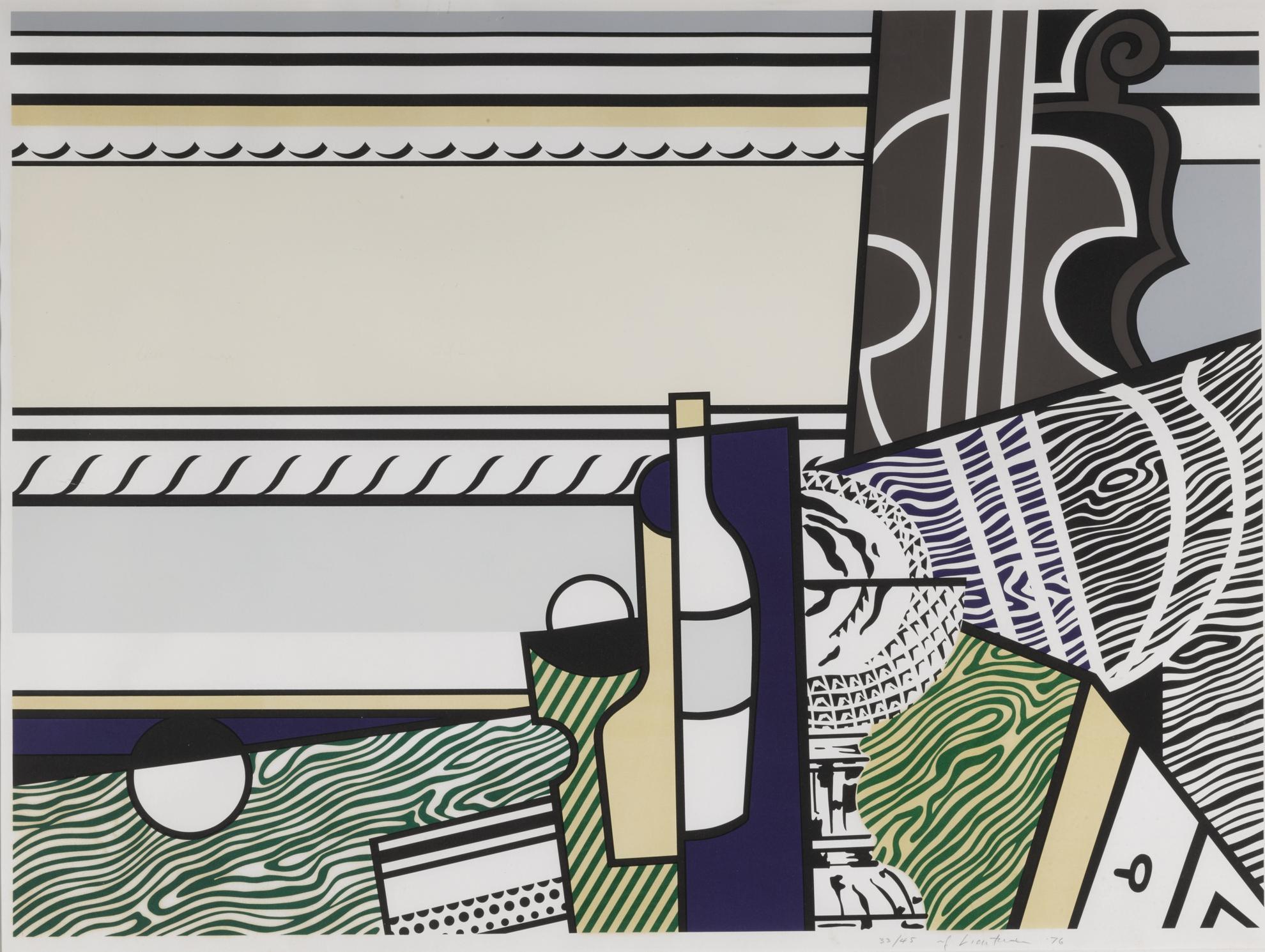 Roy Lichtenstein-Still Life With Crystal Bowl (C. 150)-1976