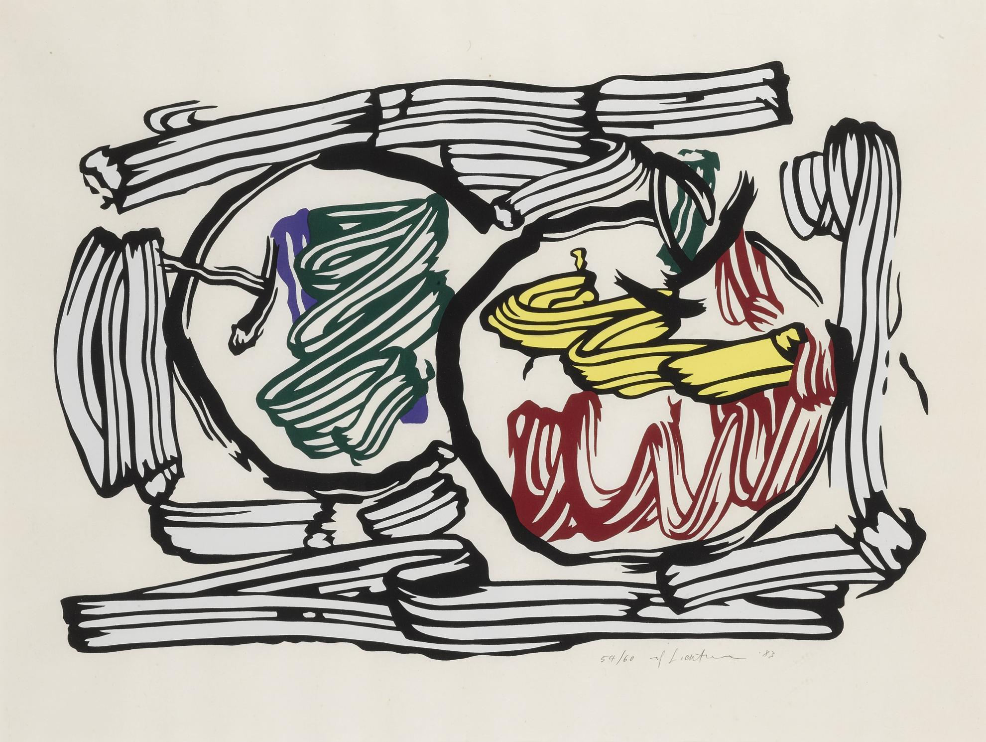 Roy Lichtenstein-Two Apples (C. 198)-1983