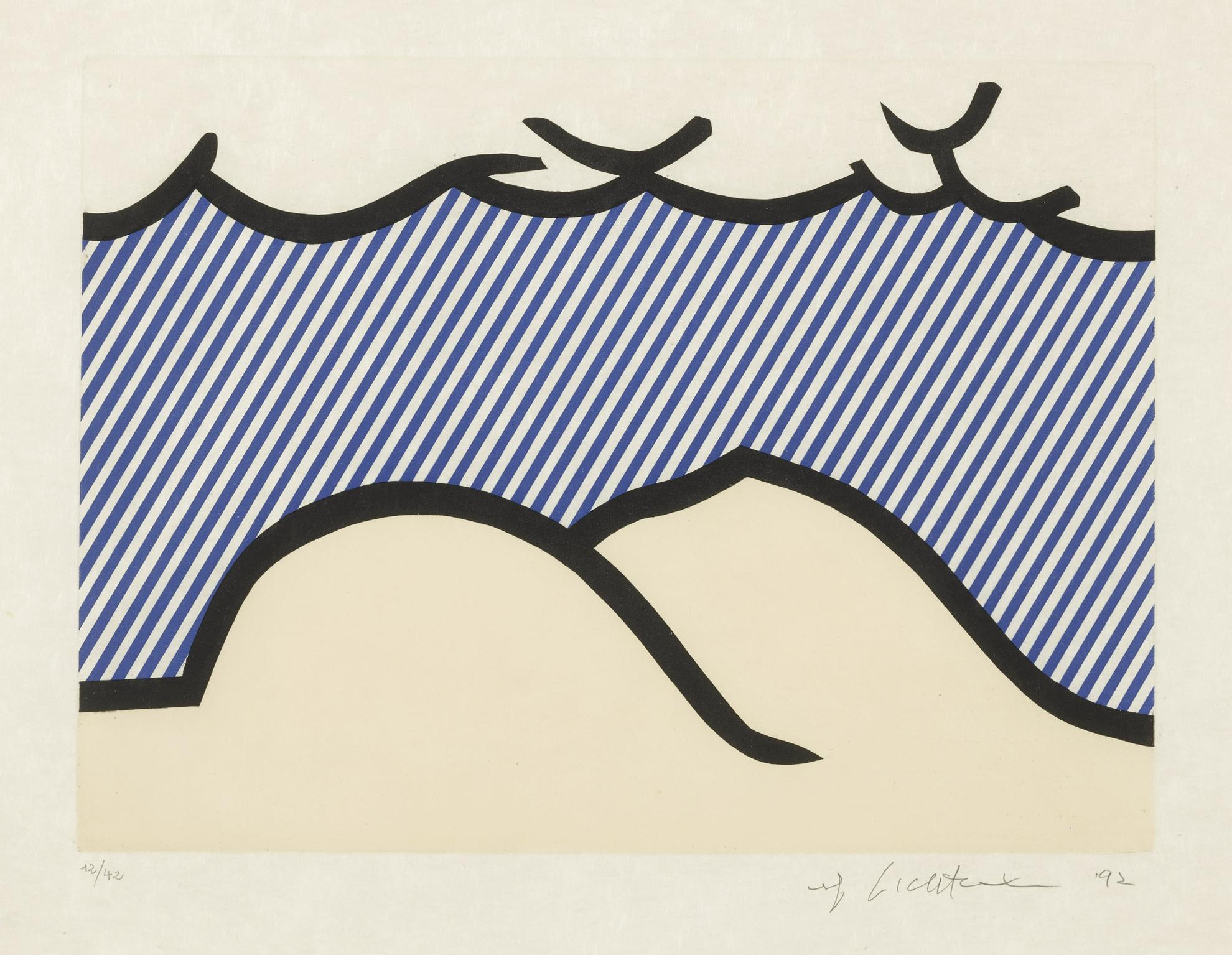 Roy Lichtenstein-Illustration For 'De Denver Au Montana, Depart 27 Mai 1972' (I) (C. 275)-1992