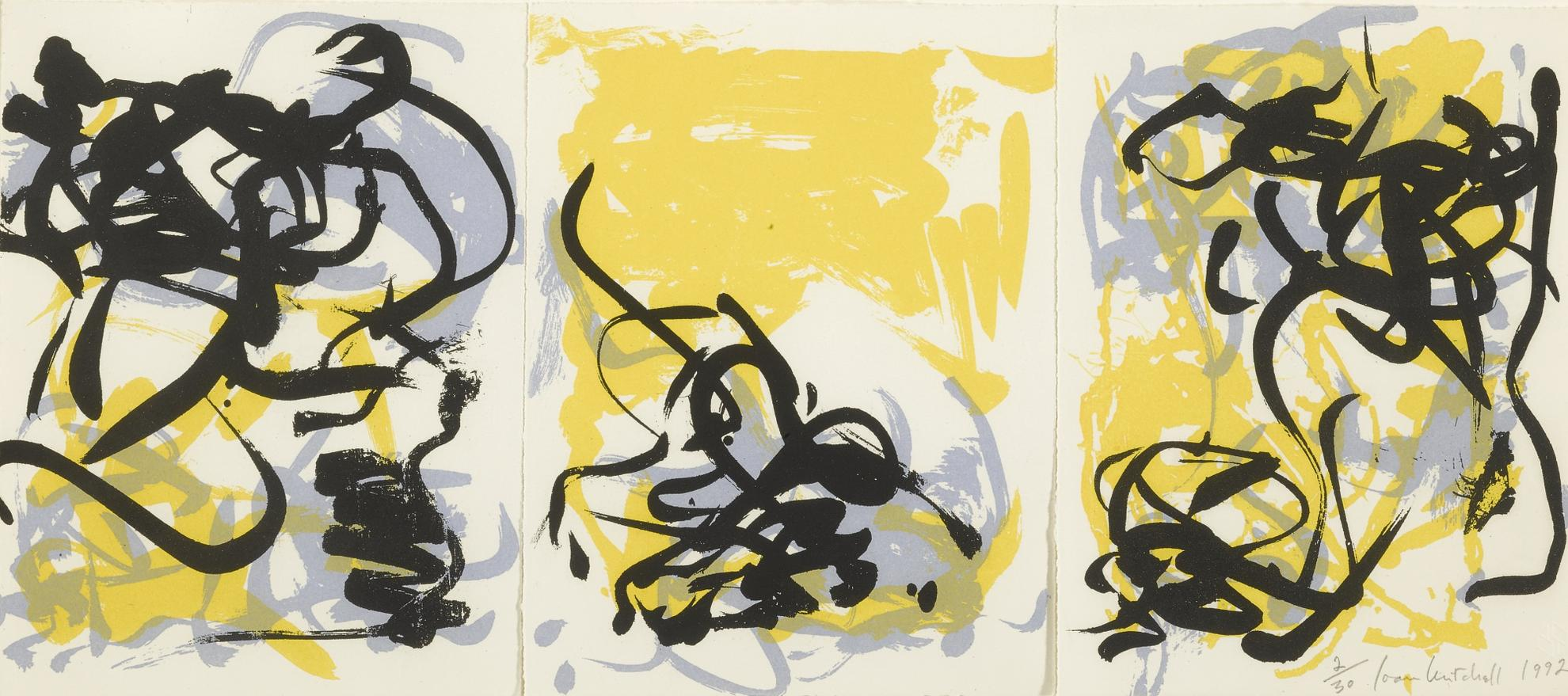 Joan Mitchell-Little Weeds I And Ii And Weeds Iii-1992