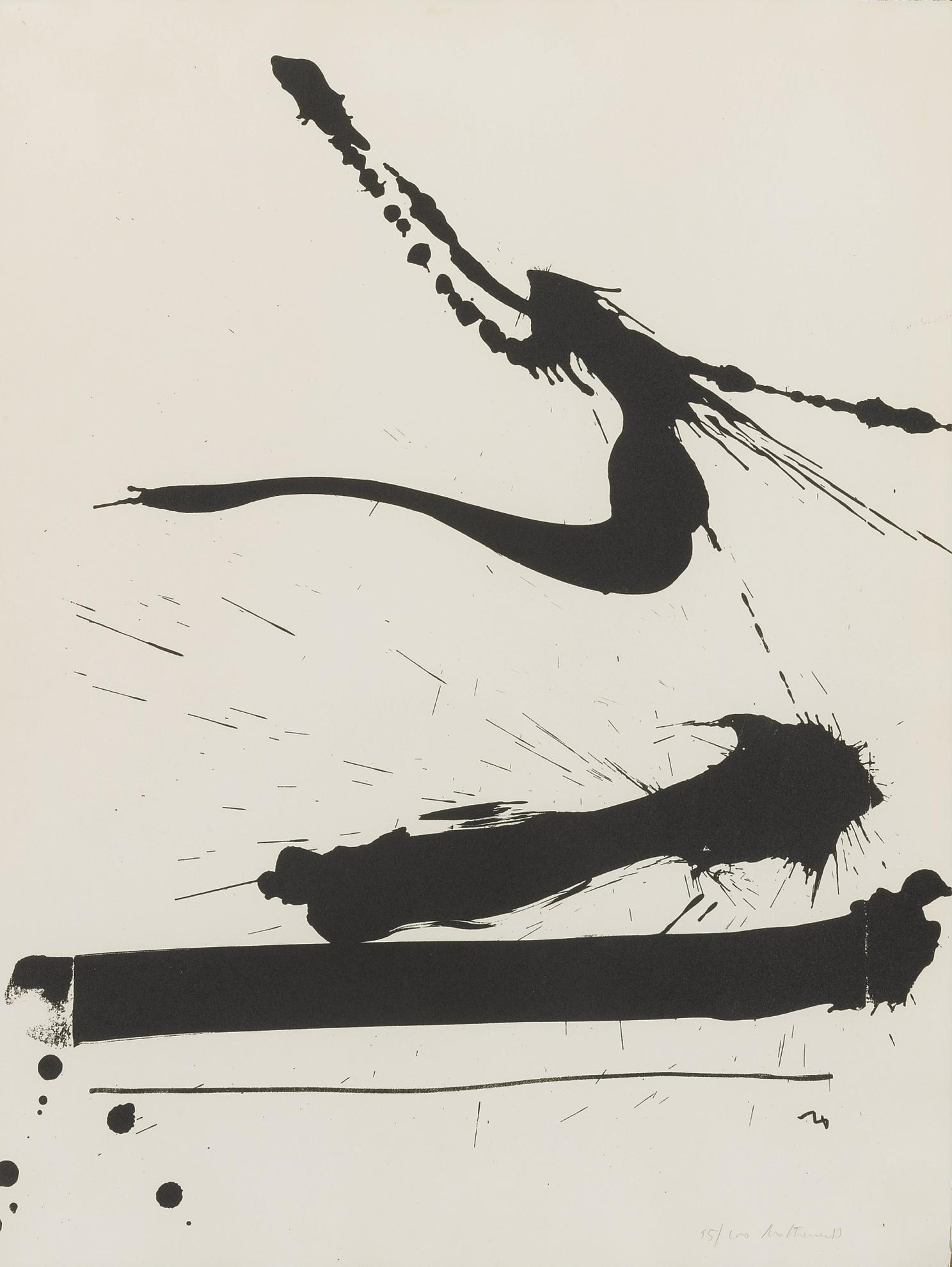 Robert Motherwell-Automatism A (W.A.C. 19)-1966