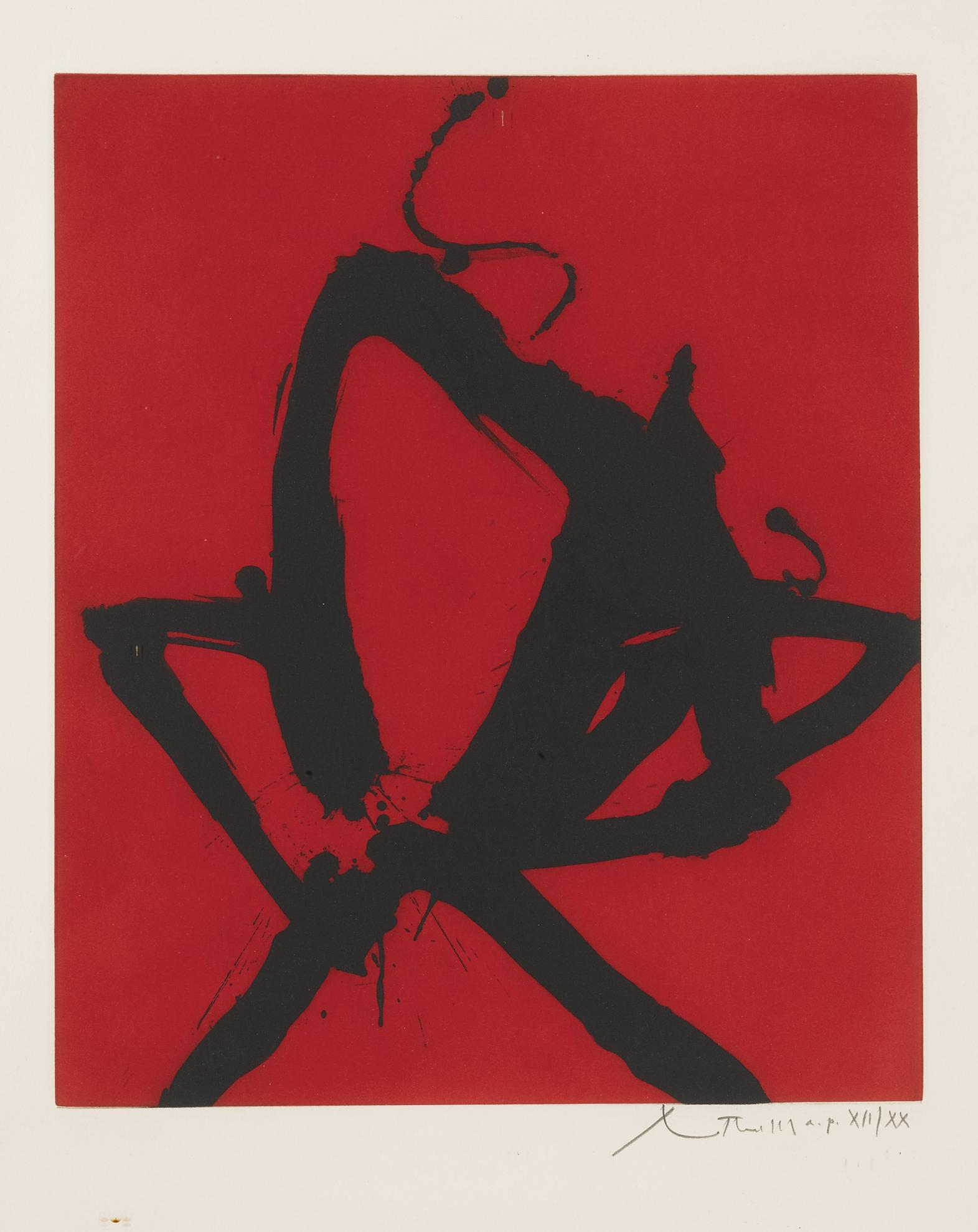 Robert Motherwell-Red Sea I (W.A.C. 193)-1976