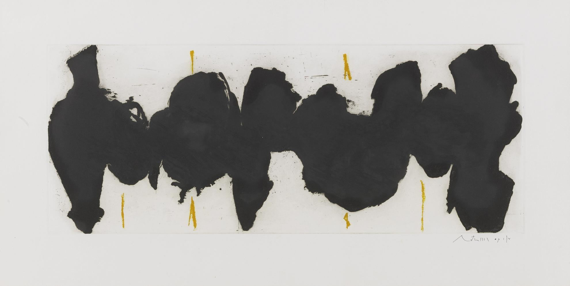 Robert Motherwell-Running Elegy Ii, Yellow State (W.A.C. 321)-1983