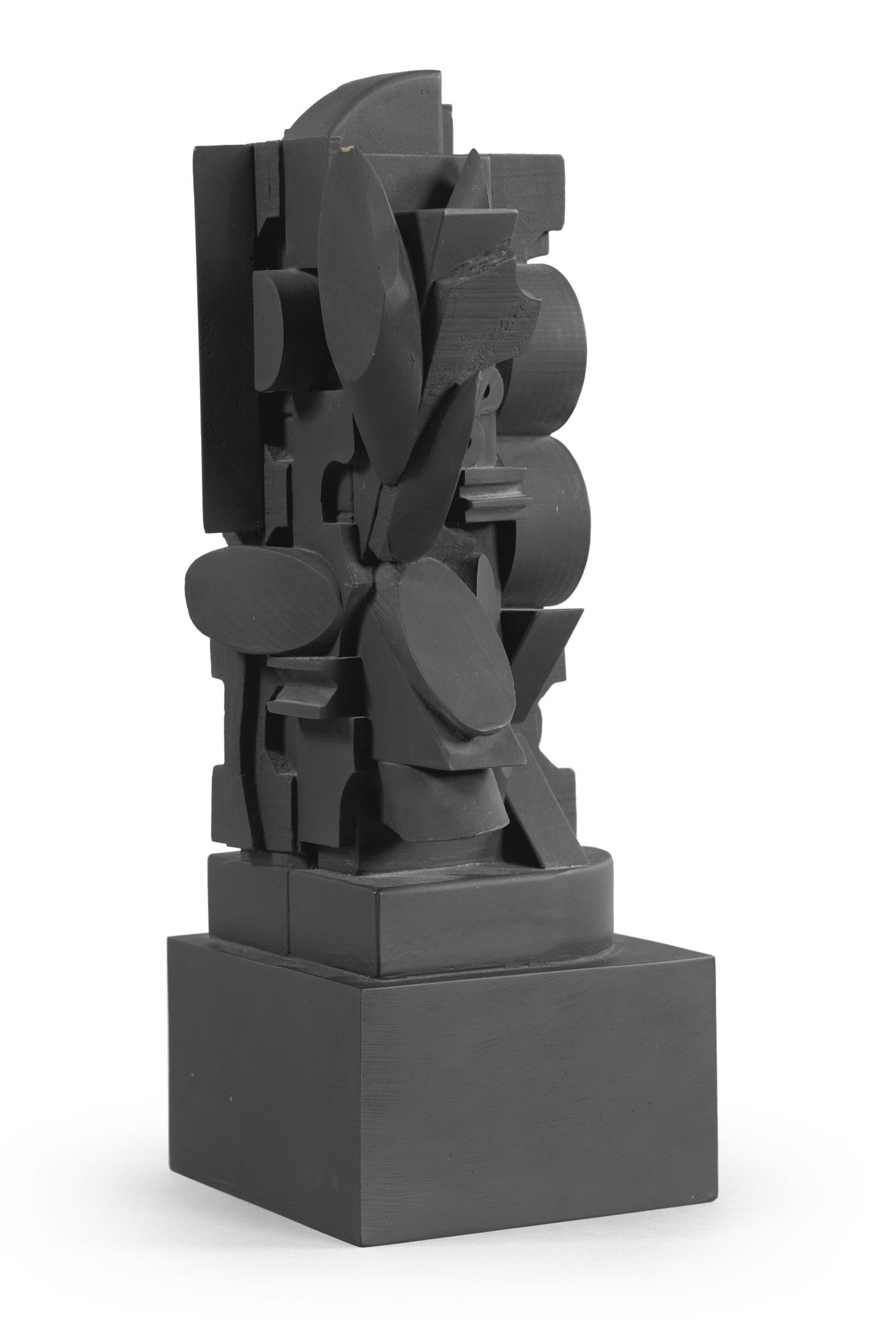 Louise Nevelson-The Dark Ellipse (Baro 128)-1974