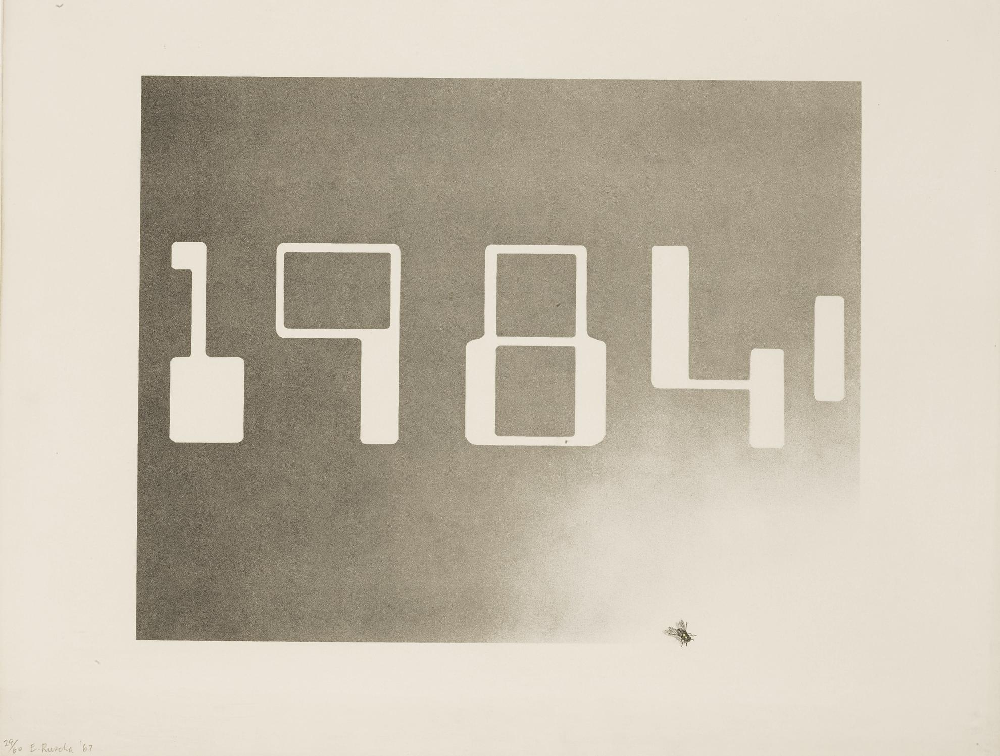 Ed Ruscha-1984 (E. 6)-1967