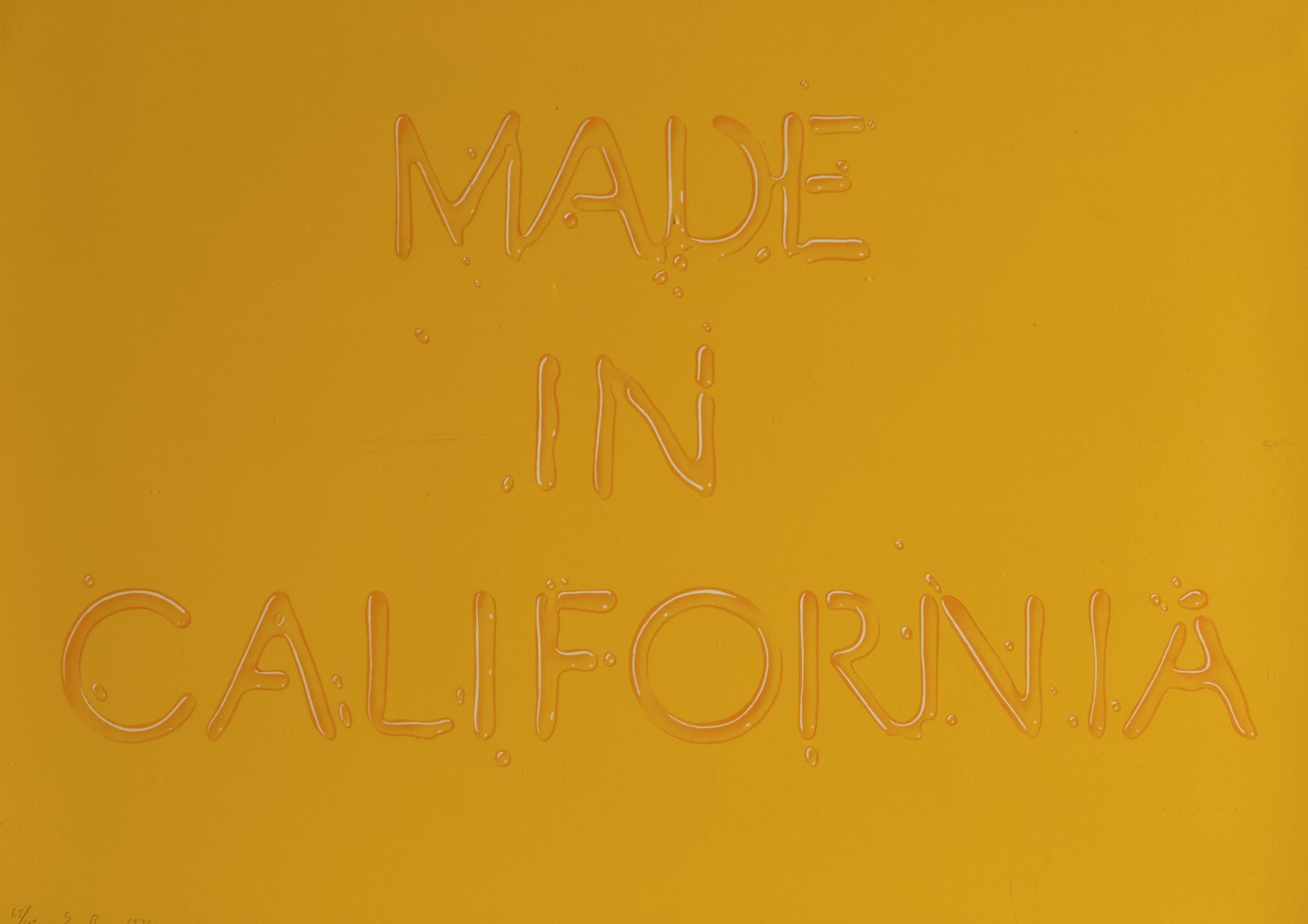 Ed Ruscha-Made In California (E. 52)-1971