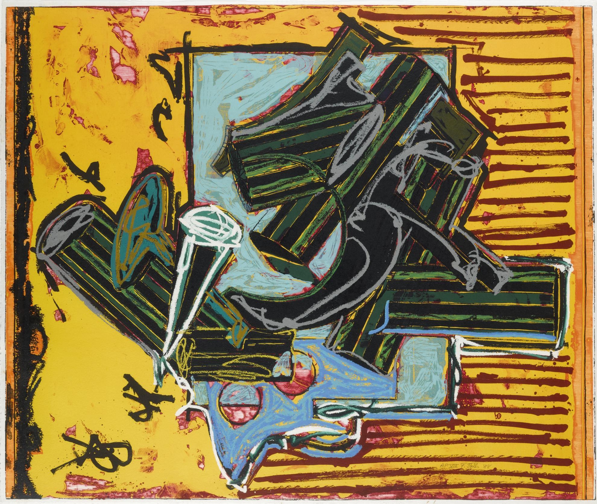 Frank Stella-La Penna Di Hu-1988