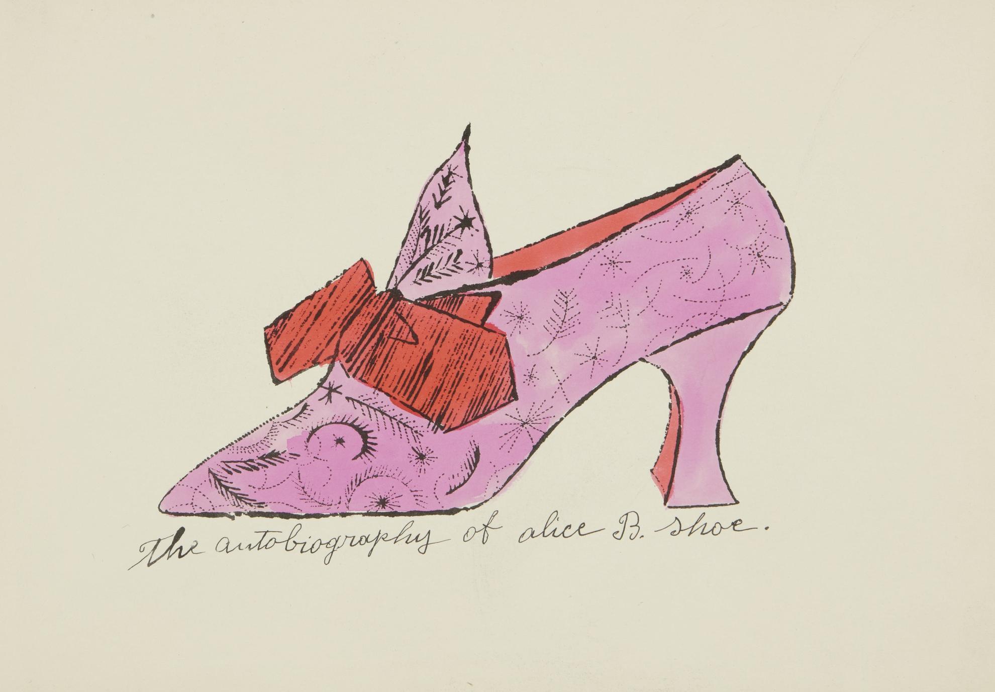 Andy Warhol-A La Recherche Du Shoe Perdu (F. & S. Iv.69 - 73, 75 - 81, 83, 85)-1955