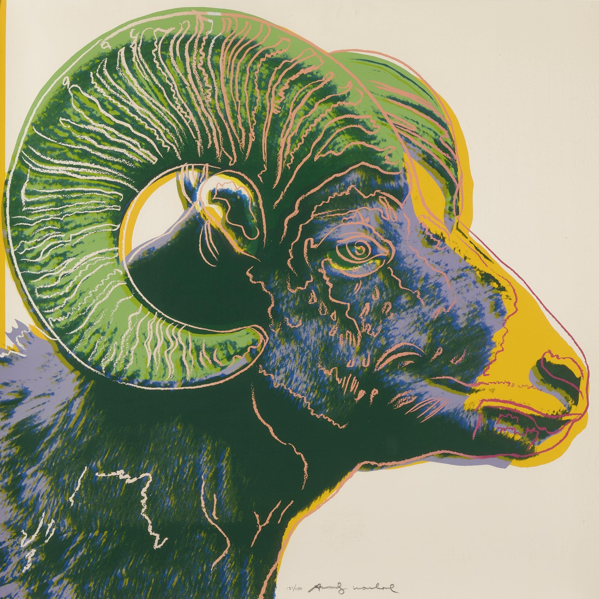 Andy Warhol-Bighorn Ram (F. & S. II.302)-1983