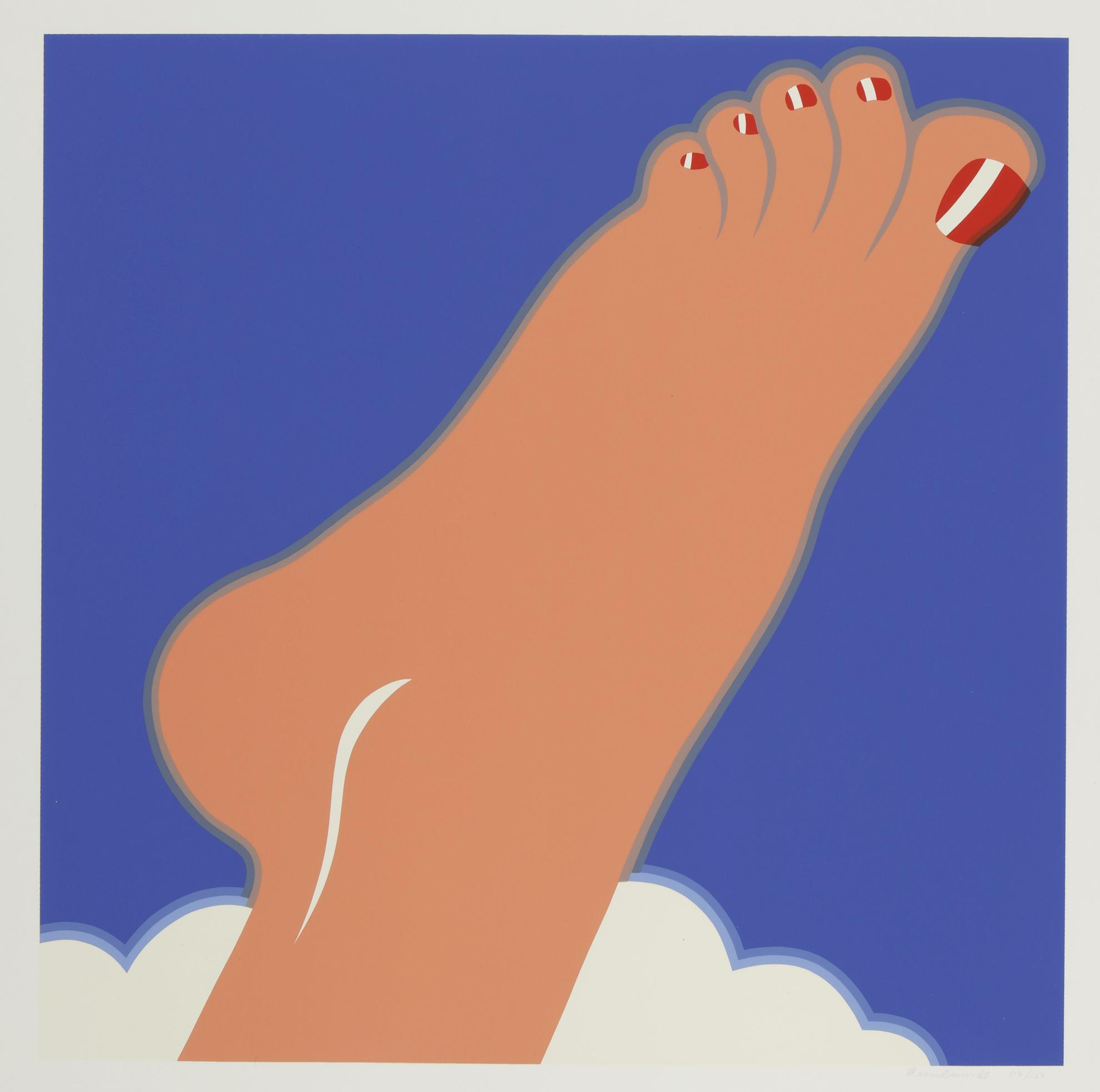 Tom Wesselmann-Seascape (Foot)-1968
