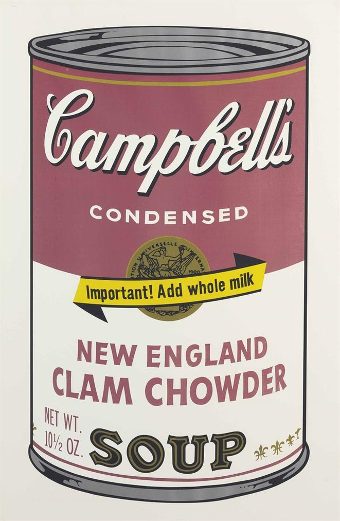 Andy Warhol-New England Clam Chowder, From Campbells Soup II-1969