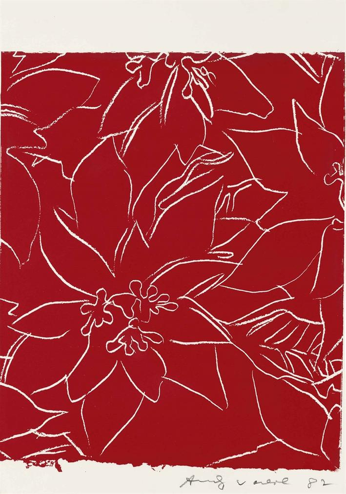 Andy Warhol-Poinsettias-1983