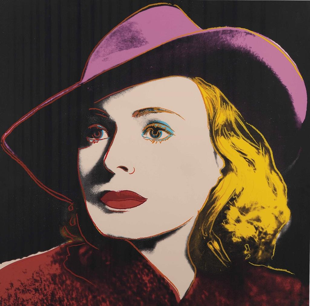 Andy Warhol-Ingrid Bergman With Hat, From Ingrid Bergman-1983