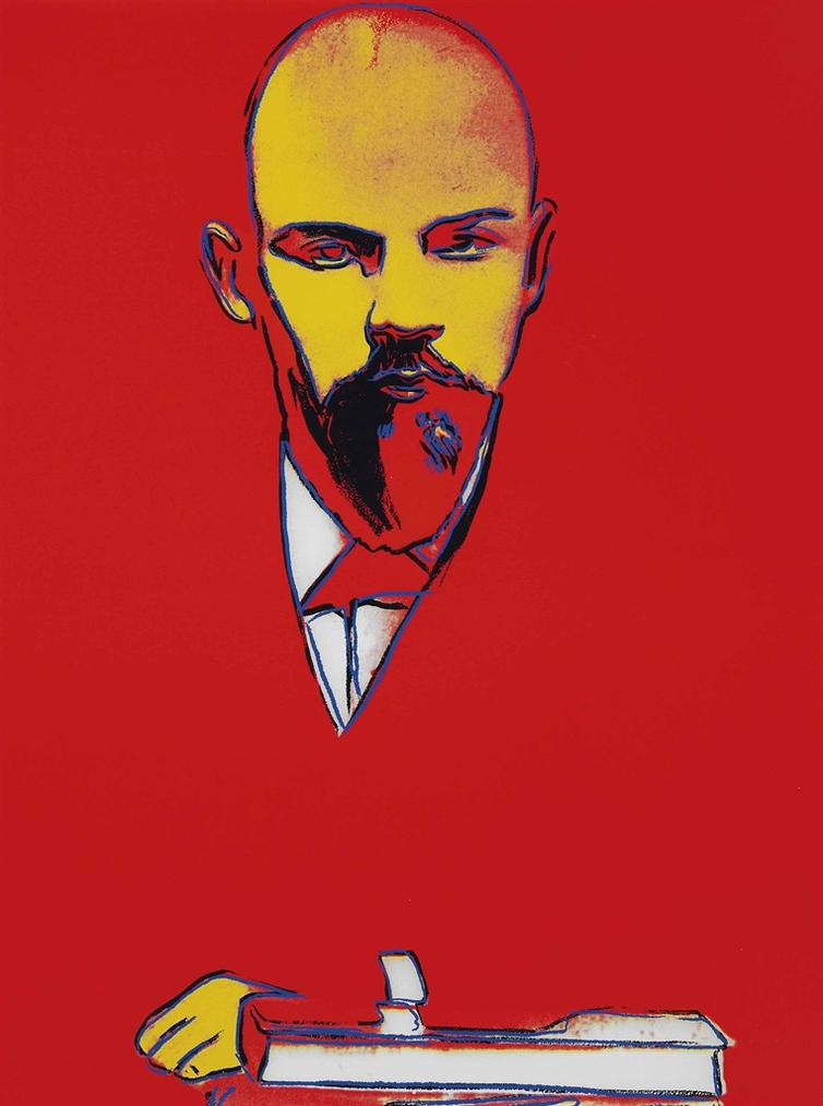 Andy Warhol-Red Lenin-1987