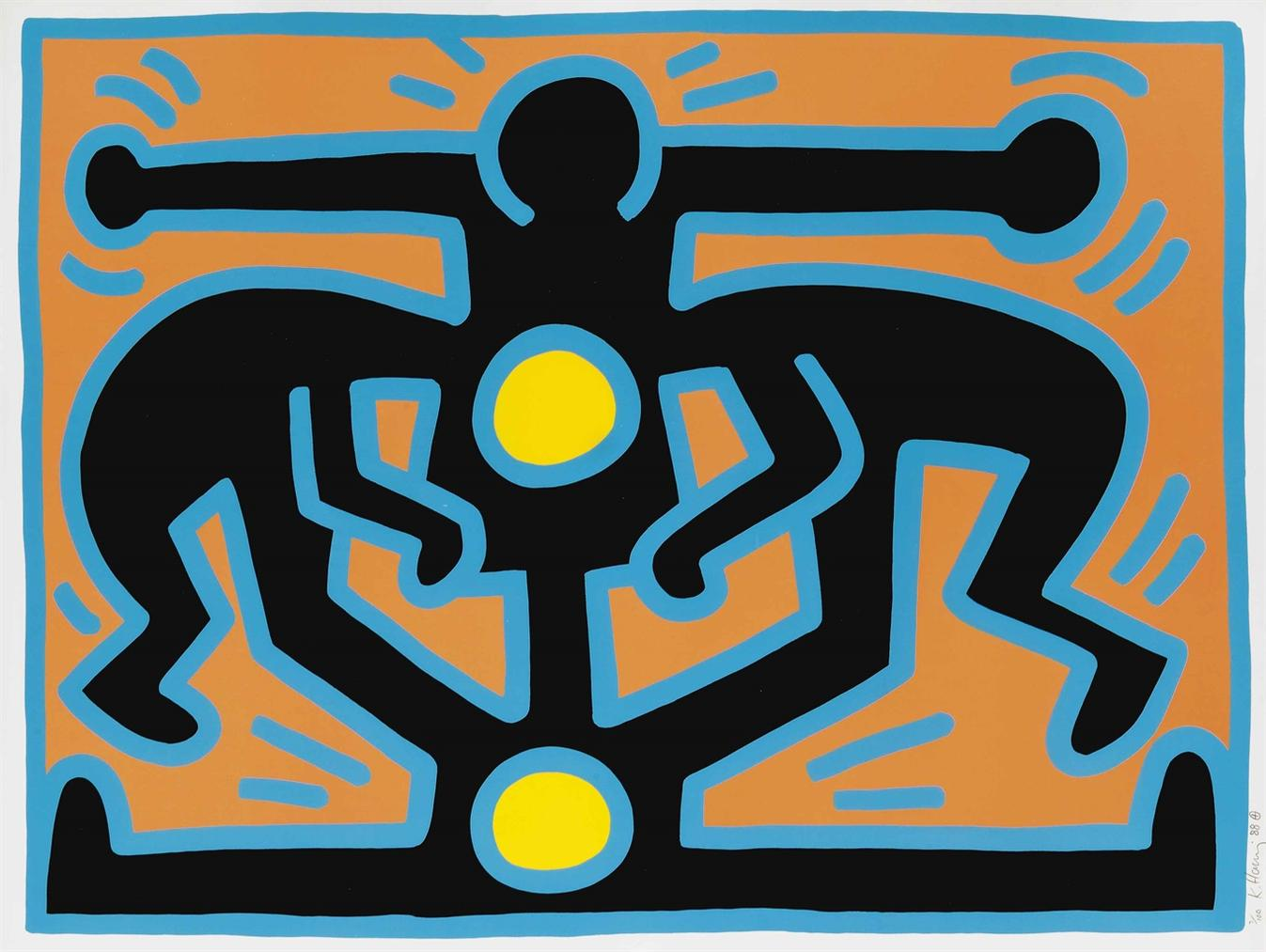 Keith Haring-Growing #2, From Growing-1988