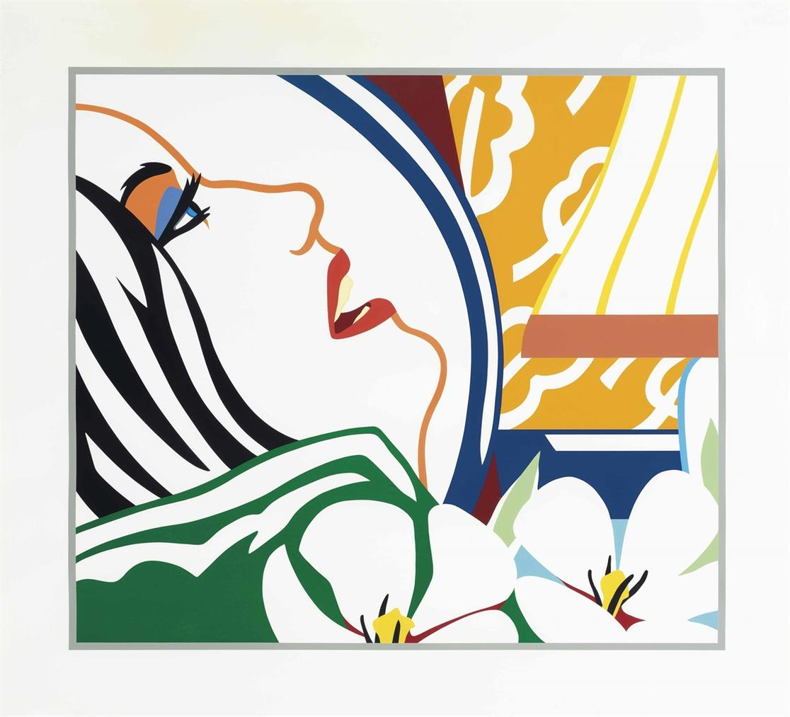 Tom Wesselmann-Bedroom Face With Orange Wallpaper-1987