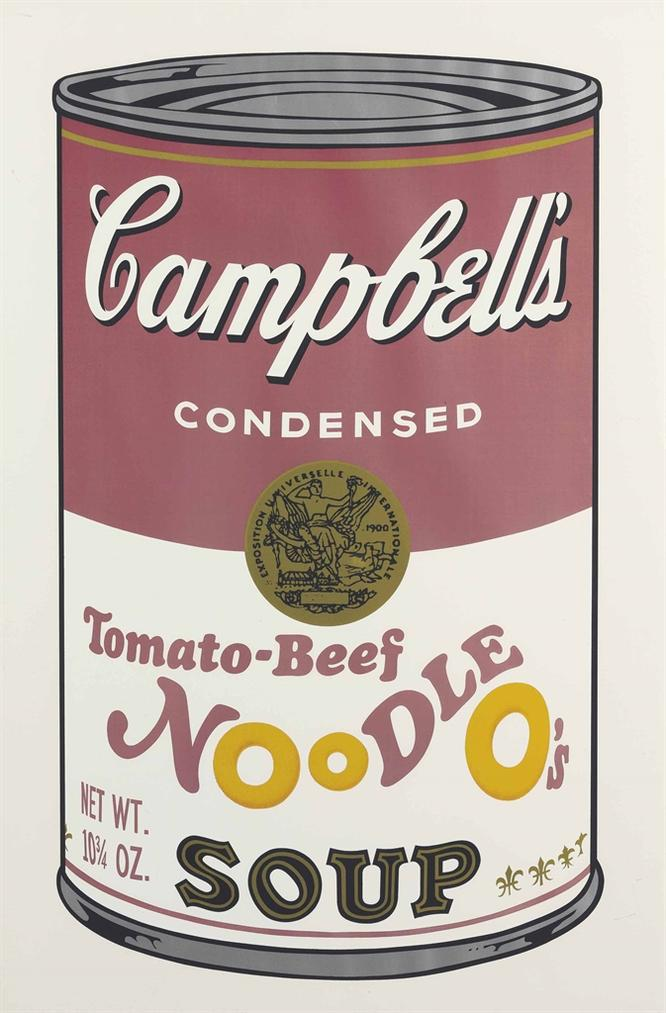 Andy Warhol-Tomato-Beef Noodle Os, From Campbells Soup II-1969