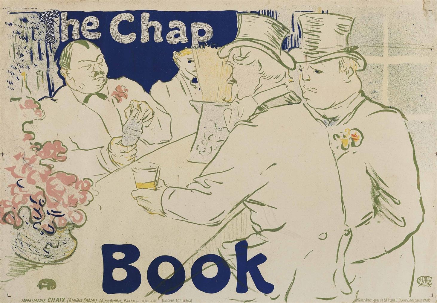 Henri de Toulouse-Lautrec-Irish And American Bar, Rue Royale - The Chap Book-1895