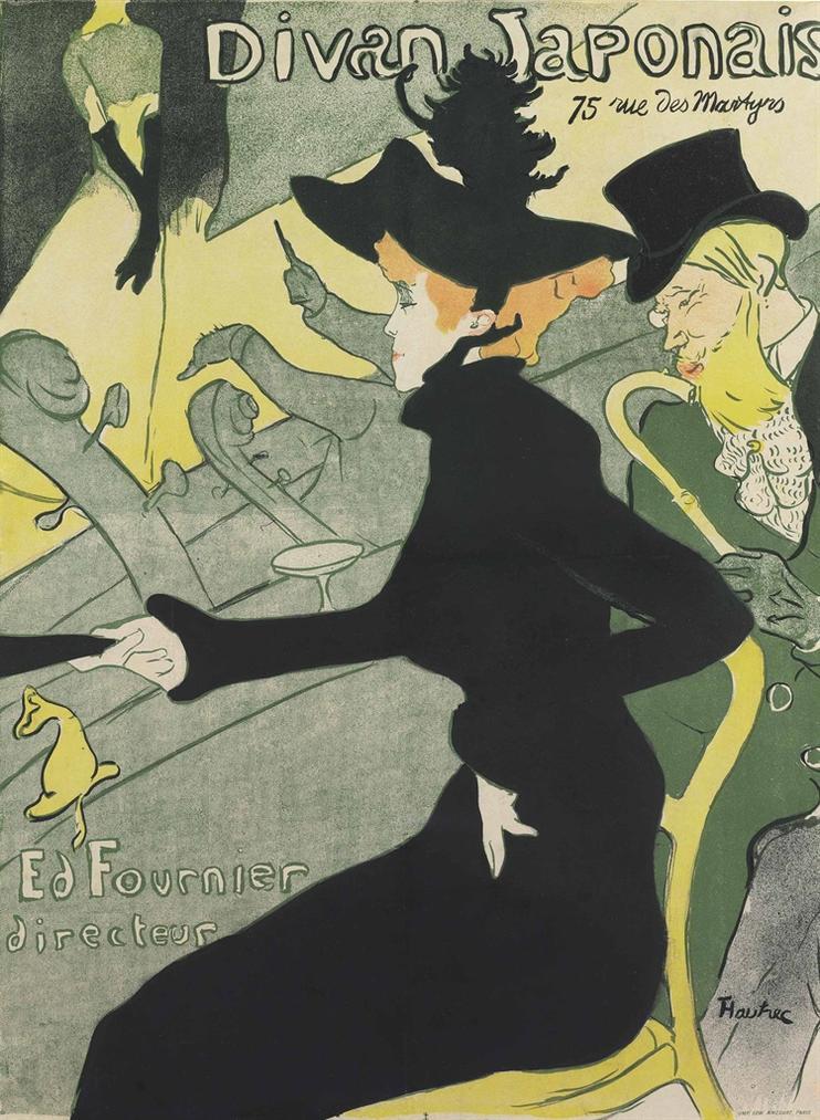Henri de Toulouse-Lautrec-Divan Japonais-1893