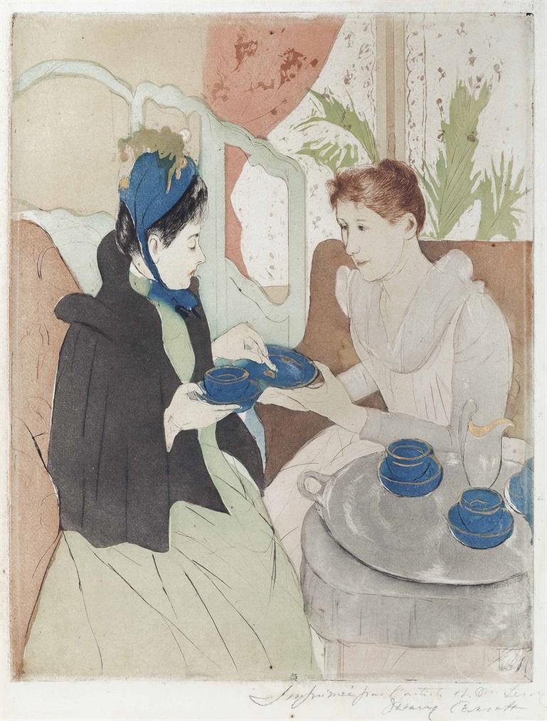 Mary Cassatt-Afternoon Tea Party-1891