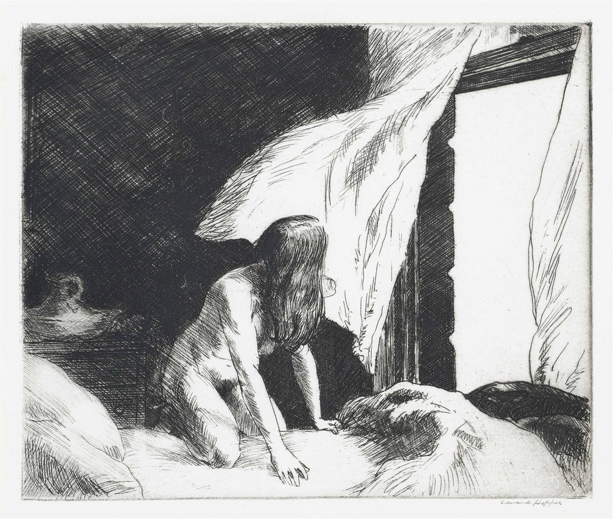 Edward Hopper-Evening Wind-1921