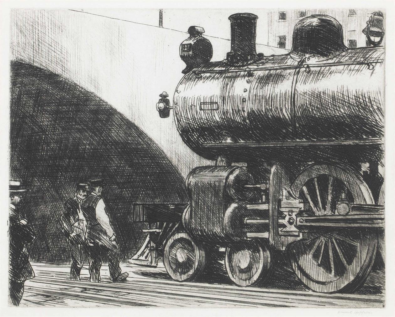 Edward Hopper-The Locomotive-1923