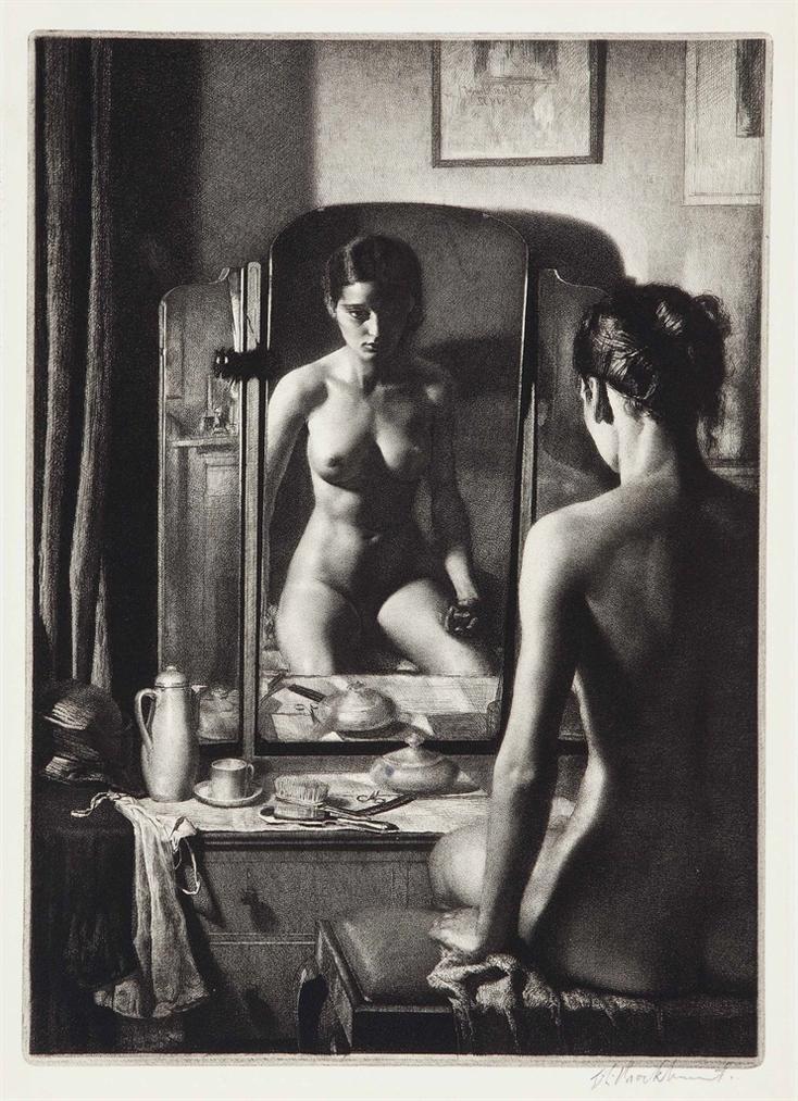 Gerald Leslie Brockhurst-Adolescence (Kathleen Nancy Woodward)-1932