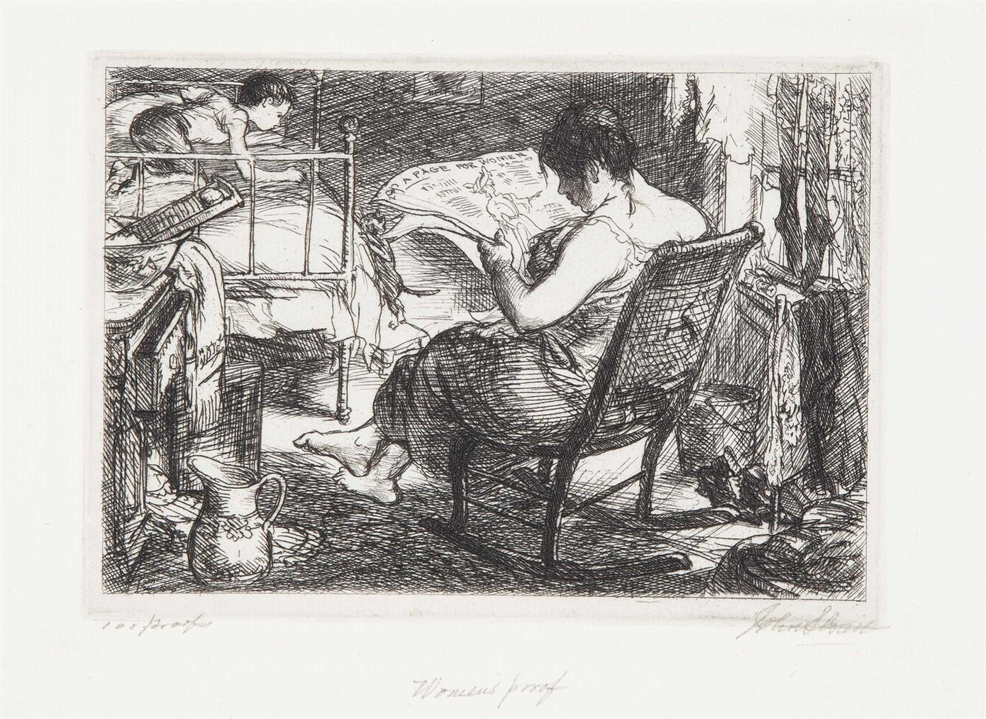 John Sloan-The Womens Page-1905