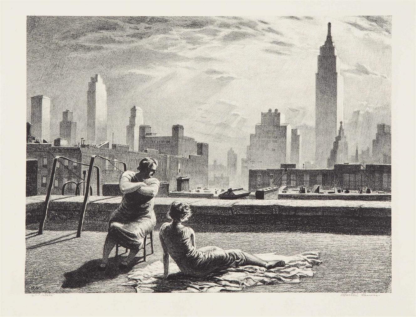 Martin Lewis-Sun Bath-1935