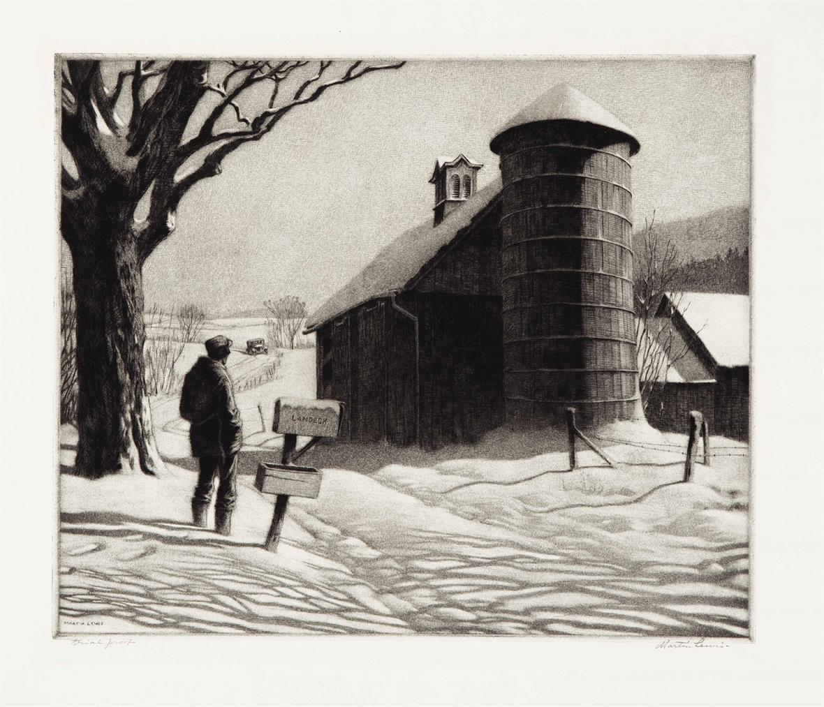 Martin Lewis-Corner Shadows; R.E.D (m. 106)-1933