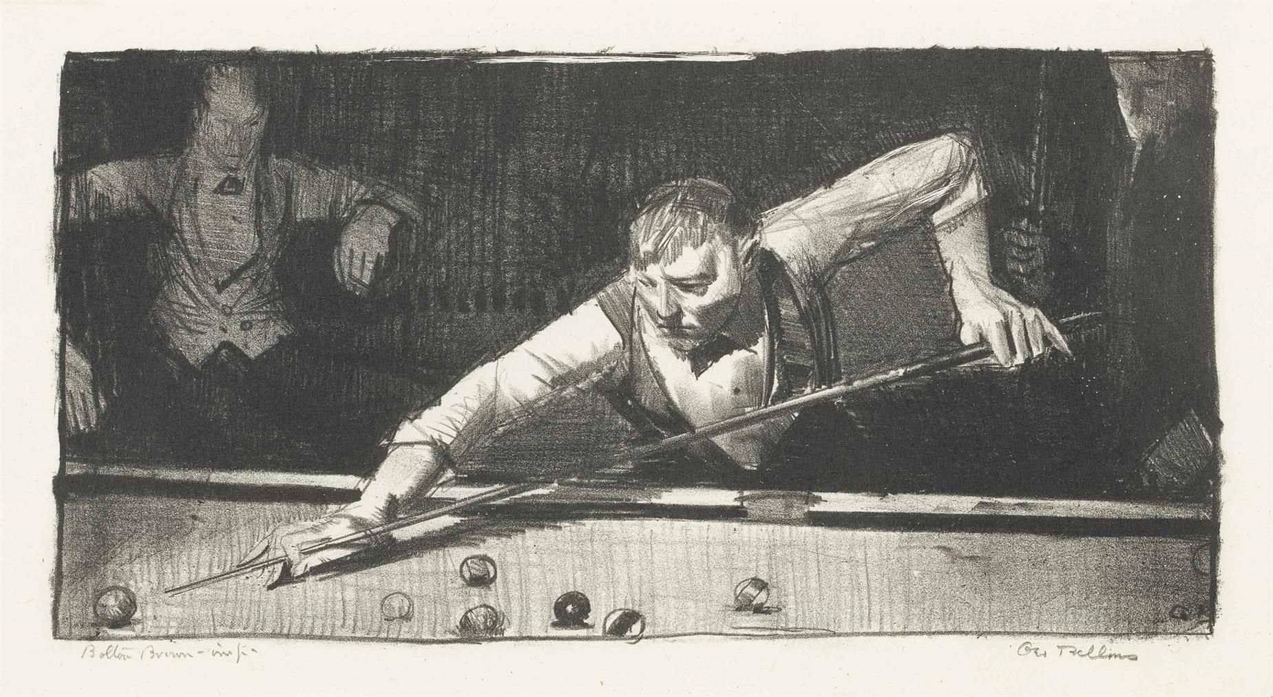 George Bellows-The Pool-Player-1921