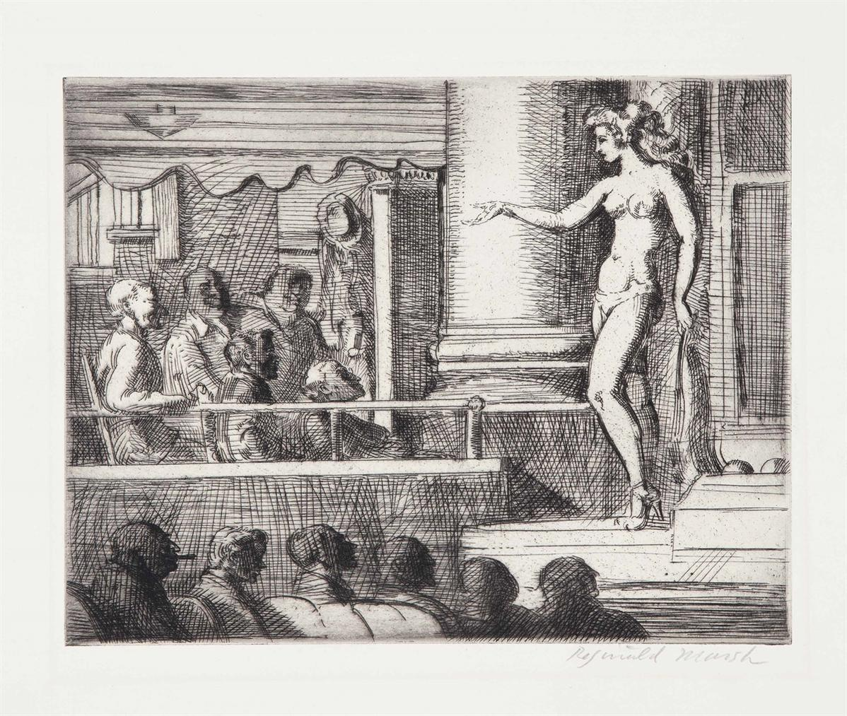 Reginald Marsh-Fan Dance At Jimmy Kellys ; Striptease in New Jersey (s. 236)-1951