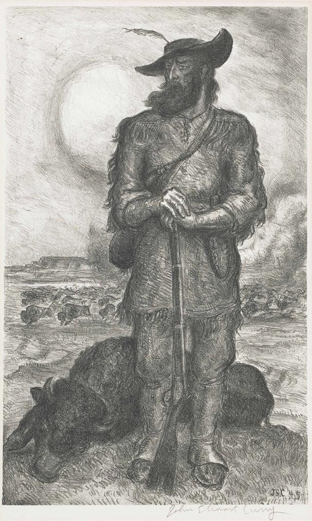 John Steuart Curry-The Plainsman-1945