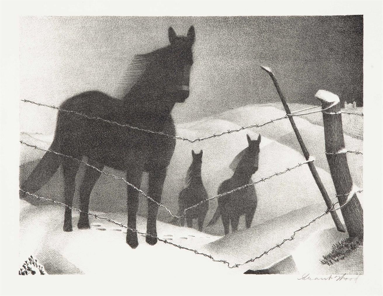 Grant Wood-January ; February (c. 17)-1938