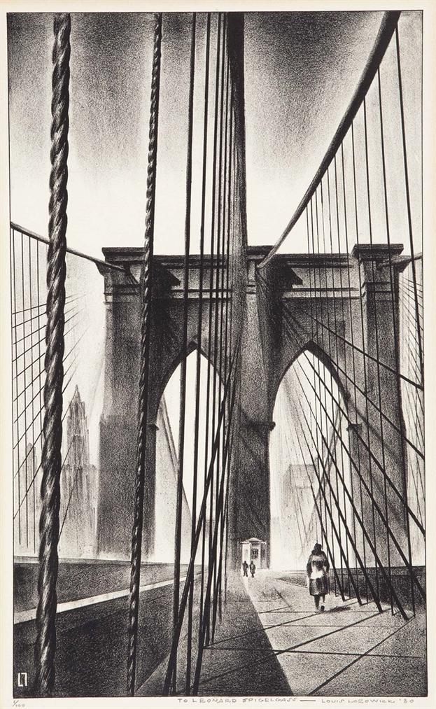 Louis Lozowick - Brooklyn Bridge-1930
