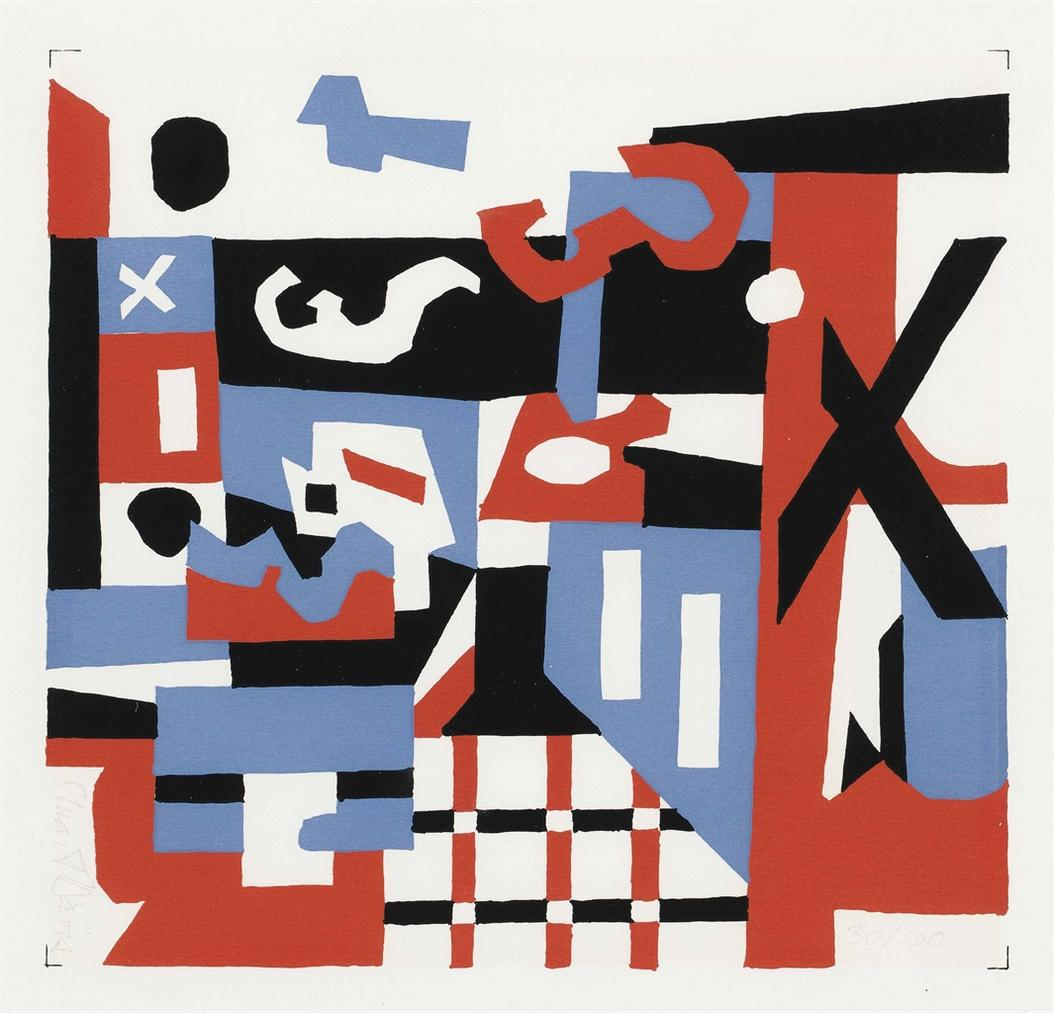 Stuart Davis-Study For A Drawing-1955