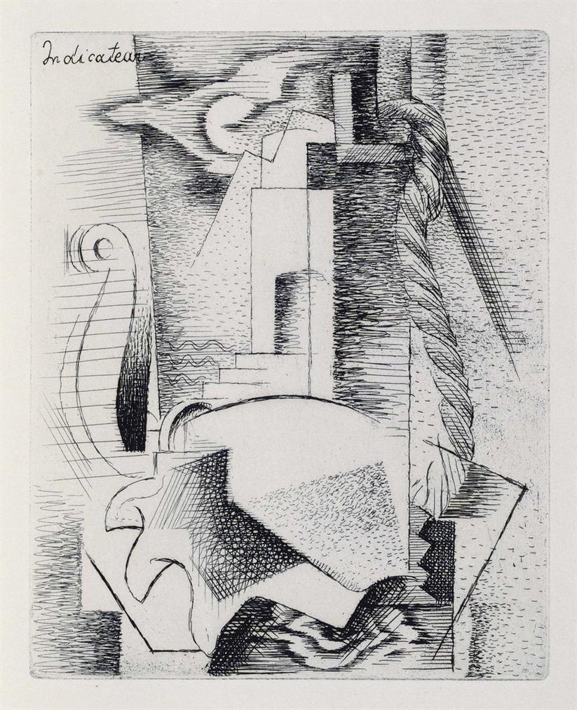 Louis Marcoussis-Tristan Tzara, Indicateur Des Chemins De Coeur, Jeanne Bucher, Paris,-1928