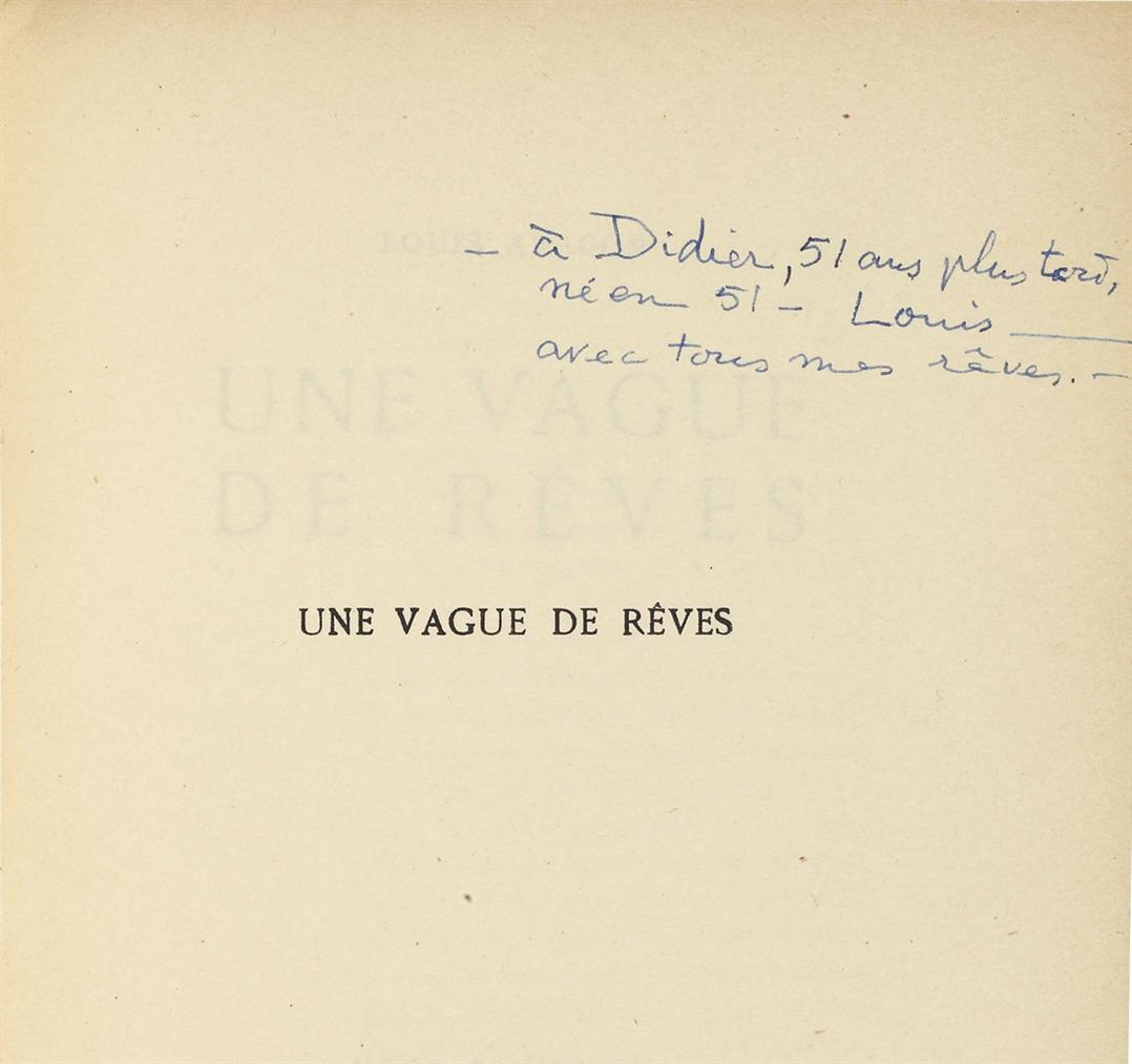 Louis Aragon - Une Vague De Reves, Paris-1924