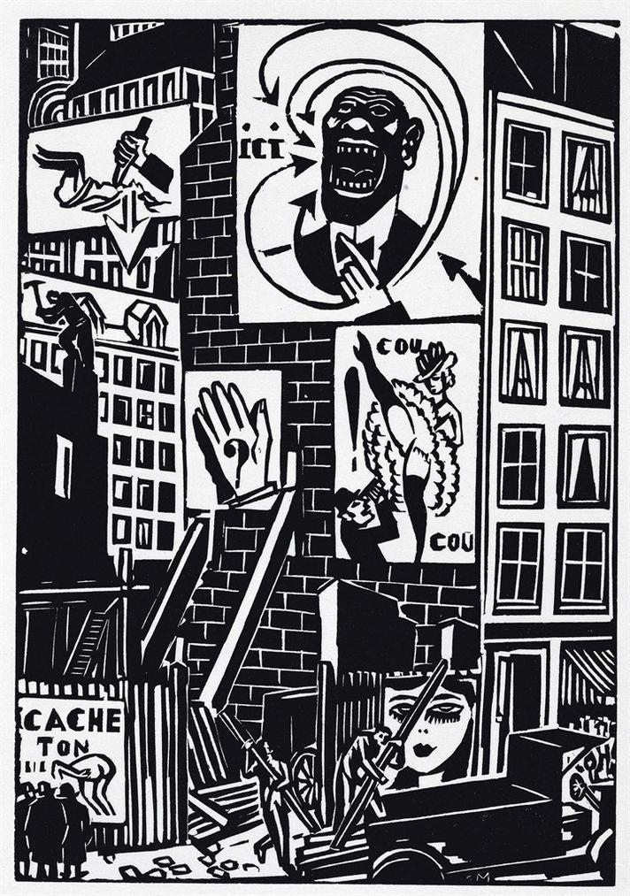 Frans Masereel - La Ville, Albert Morance, Paris-1925