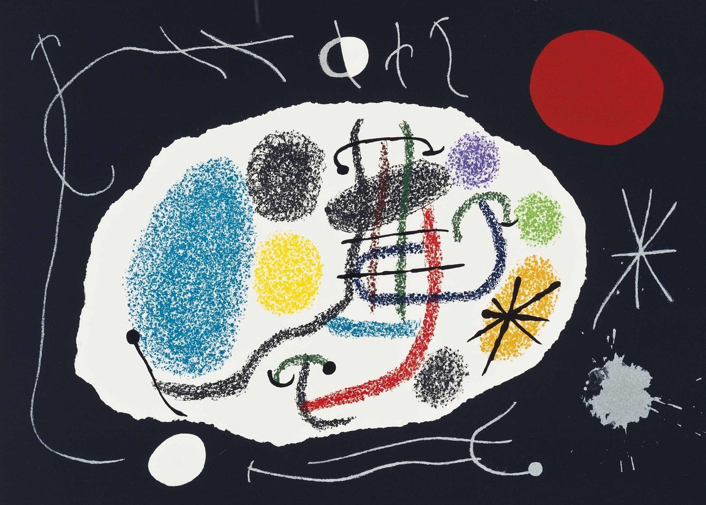 Joan Miro-Joan Miro, Le Lezard Aux Plumes Dor, Louis Broder, Paris-1971