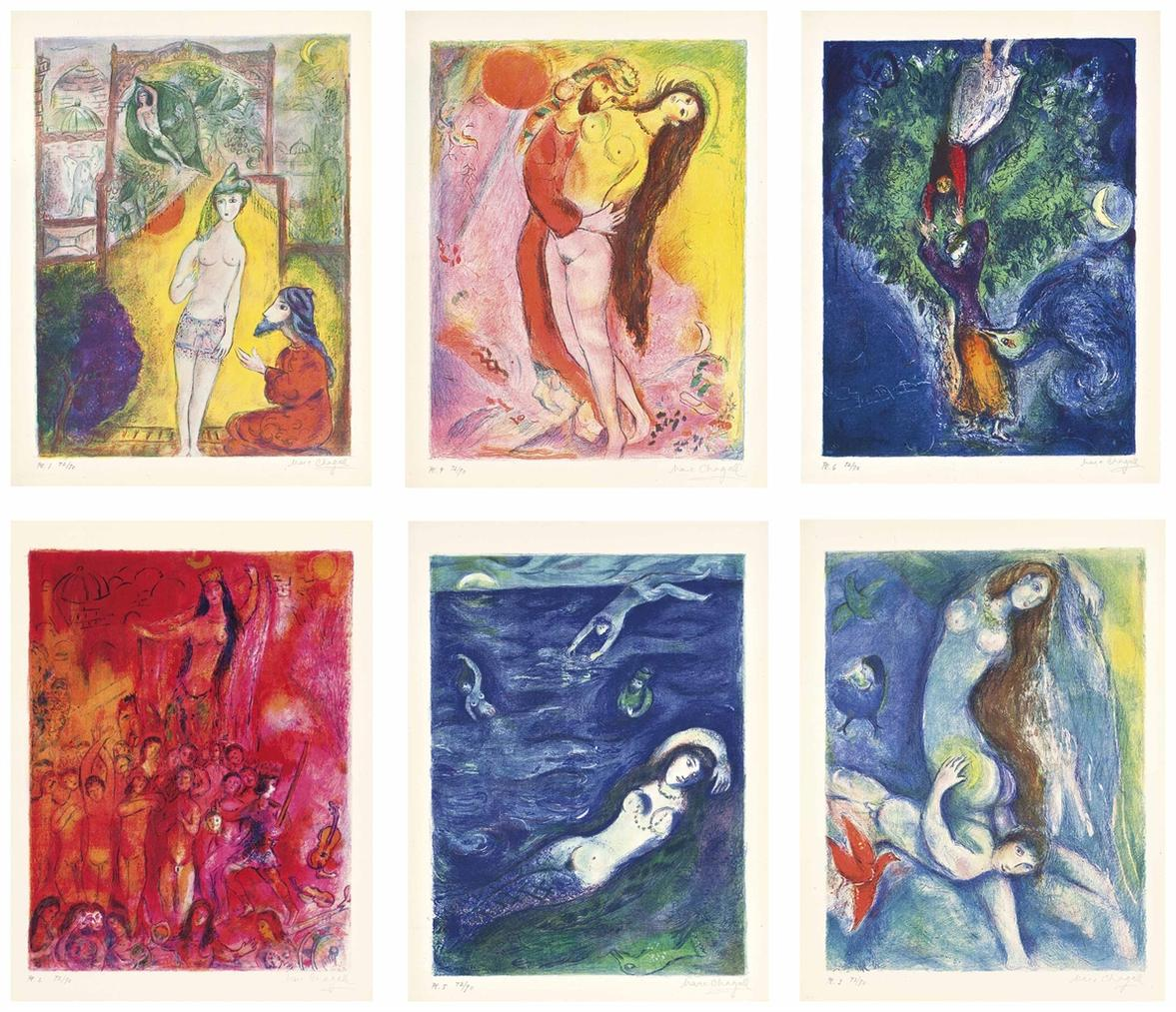Marc Chagall-Four Tales From Arabian Nights, Pantheon Books, New York-1948
