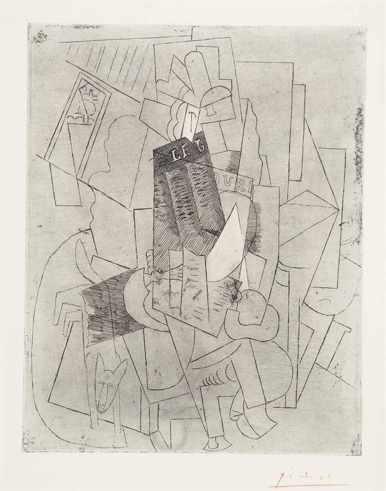 Pablo Picasso-Lhomme Au Chien (Rue Schoelcher)-1915