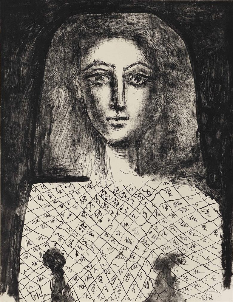 Pablo Picasso-Le Corsage A Carreux-1949