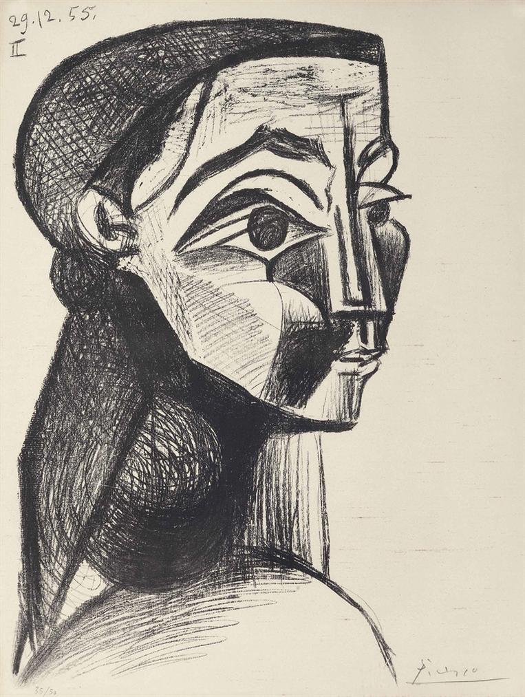 Pablo Picasso-Portrait De Femme II-1955