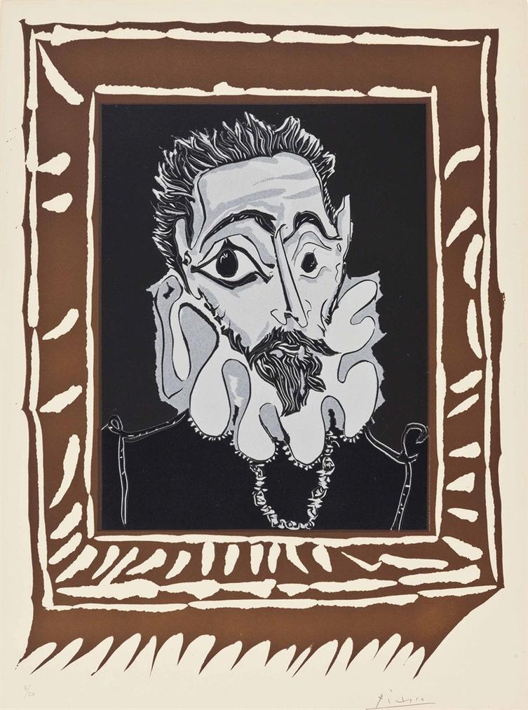 Pablo Picasso-Lhomme A La Fraise-1963