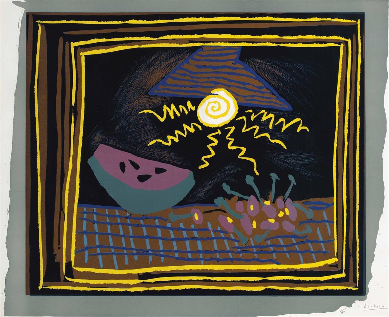 Pablo Picasso-Nature Morte A La Pasteque-1962