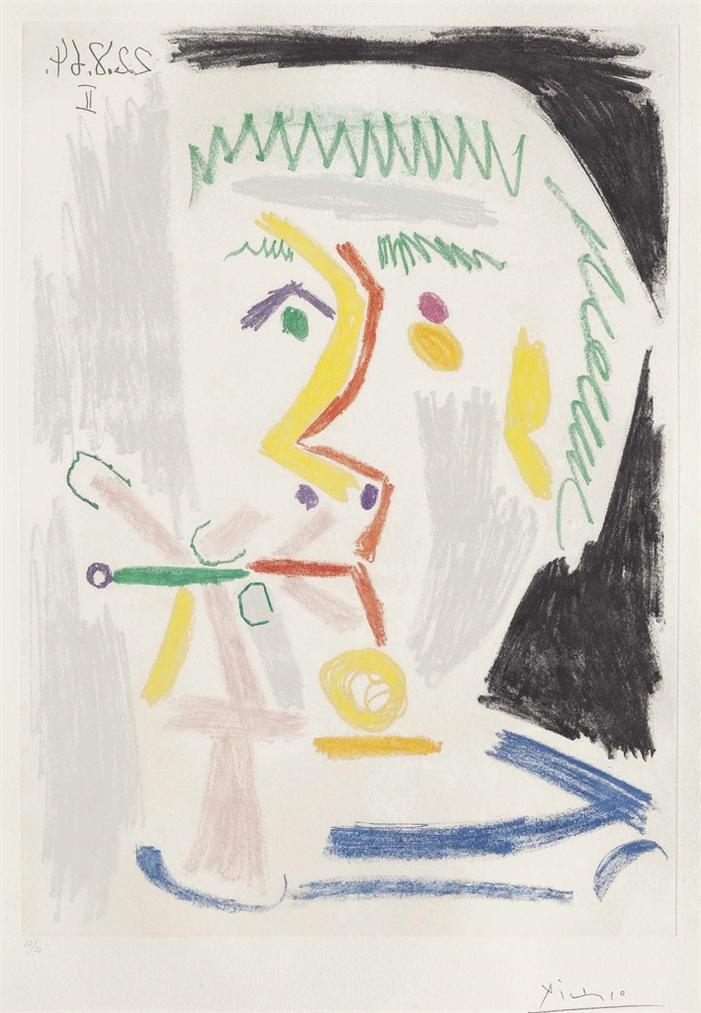 Pablo Picasso-Fumeur A La Cigarette-1964